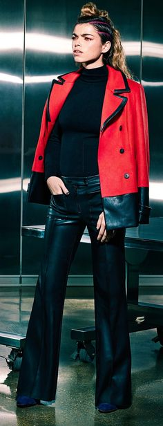 Like the outfit, not crazy about the hair.  Love the leather pants