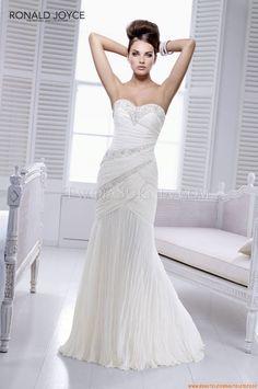 Chiffon Herz-neck Meerjungfrau  Elegante Brautkleider für Mollige