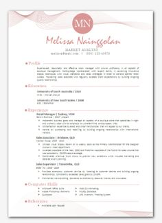 Modern Microsoft Word Resume Template Laila Medihah By Inkpower