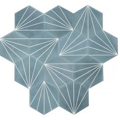 MarrakechDesign - Dandelion in pigeon blue pure white Tile Patterns, Textures Patterns, Hall Tiles, Porch Tile, Ranch Remodel, Tadelakt, Beaded Chandelier, Bathroom Interior Design, Interior Ideas