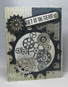 Masculine card - gears