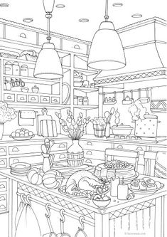 Garden Coloring Pages, Lion Coloring Pages, House Colouring Pages, Tree Coloring Page, Unicorn Coloring Pages, Coloring Sheets, Coloring Books, Colored Mason Jars, Paint By Number Kits