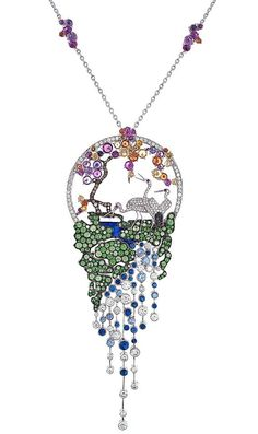 Gilan, Dance Of The Pheasants Necklace from the Journey To Dreams Collection