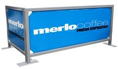 Cafe Wind Barrier - (Square Style-Double Foot) Our Cafe Barriers are strong, stable and carry invaluable advertising and real estate. These are available as a complete signage solution, replacement insert or as a slip on jacket - providing an affordable way to display and change your message.