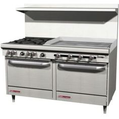 "Southbend S60DD-3GR 60"" Open Burner and Griddle Top Gas Restaurant Range with Standard Oven S Series 246,000 BTU"