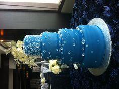 Navy blue, diamond wedding cake