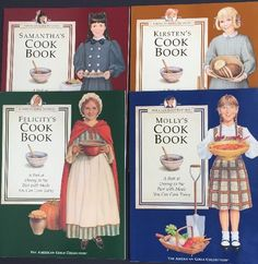 American Girl Cookbook Lot of 4 Kirsten Samantha Molly Felicity First Ed. 1994