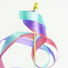 Mint, Lavender & Pink Ribbon Wand : Kids Party Favours : Party Bag Toys : The Party Cupboard Online Party Supplies Store Australia
