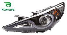 262.80$  Buy here  - Pair Of Car Headlight Assembly For HYUNDAI SONATA 2011 Tuning Headlight Lamp Parts Daytime Running Light Bi Xenon project lens