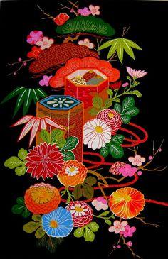 Japanese floral motif