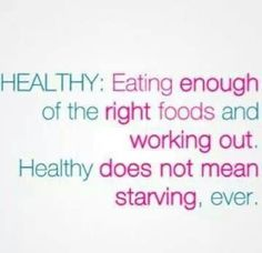 Be #healthy not #sick. www.placeboeffect.com/anorexia-recovery