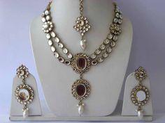 Kundan Necklace Sets | Kundan Necklace Sets Manufacturers | Wholesellers Kundan Necklace Sets | Suppliers Meerut Uttar Pradesh India