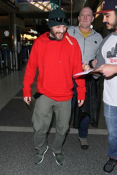 Tom and Big John at LAX on January 13, 2017 in Los Angeles.