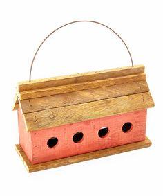 Look what I found on #zulily! Red Barn Birdhouse #zulilyfinds