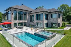 Rinox concrete products manufacturer Rinox - pavers, bricks, and stones Foyers, Dream Home Design, House Design, Pool Deck Plans, Manufactured Stone, Lakefront Homes, Catalogue, Pool Landscaping, Architecture