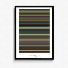 Interstellar Movie Poster The Colors Of by TheColorsOfMotion