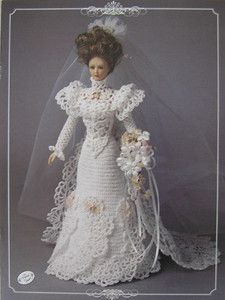 Image detail for -Annie's Attic Potter Fashion Bed Doll Crochet Pattern Bride 1995 Turn ...