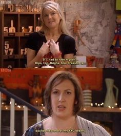"Miranda Hart. ""Sounds like one of my KFC orders"""