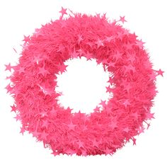 Pink tinsel wreath