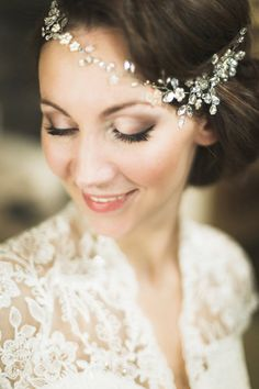 Bridal Headpiece Crystal Bridal Hair Piece Cristal by SvetloDesign