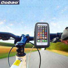 This is a waterproof bicycle phone holder,you can fix it on your bicycle,it will be very stable,with it,you don't need to keep your phone by your hands when riding,and it's waterproof,no need worry about rain or sweat,and we have 3 different size,you can choose the one suitable for your phone