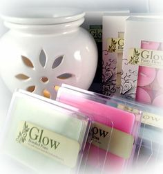Soy melts and tealights. www.glowcandles.net