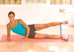 Shape Sexy Hips with the Abductor Lift - Oxygen Women's Fitness - Oxygen Women's Fitness Resistance Band Training, Resistance Band Exercises, Mini Band, Up Fitness, Outer Thighs, Sexy Hips, Thigh Exercises, Stay Fit, Fitness Inspiration
