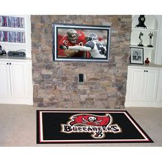 Fanmats Tampa Bay Buccaneers 4x6 Rug  https://allstarsportsfan.com/product/fanmats-tampa-bay-buccaneers-4x6-rug/  NFL® team rug Plush 28-oz nylon Measurements: 4-ft x 6-ft