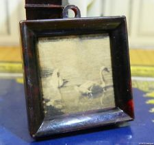 sold for 112.50 RARE! Ideal FRAMED PICTURE for Fireplace Vintage Tin Dollhouse Furniture Renwal