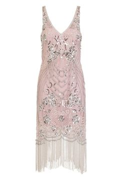 Frock and Frill Belicia Blush Pink Sequin Flapper Dress Gatsby Costume, Gatsby Dress, 1920s Dress, 20s Dresses, Vintage Dresses, Flapper Dresses, Wedding Dresses, Pink Sequin, Blush Pink