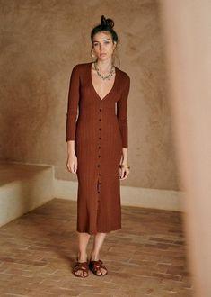 CHARLIE DRESS Hazelnut €140 Long Midi Dress, Long Dresses, Style Parisienne, Wrap Sweater, New Wardrobe, Minimal Wardrobe, Parisian Style, Who What Wear, New Outfits
