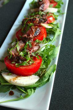 Caprese Steak Salad by CareyOnLovely http://www.careyonlovely.com/2013/07/caprese-steak-salad.html