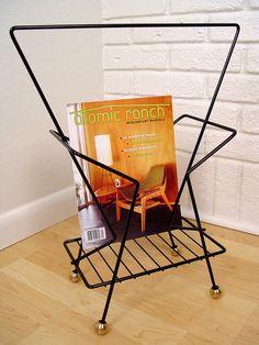 Atomic Magazine Rack