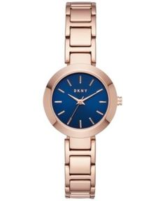 Dkny Women's Stanhope Rose Gold-Tone Stainless Steel Bracelet Watch 28mm NY2578 - Gold
