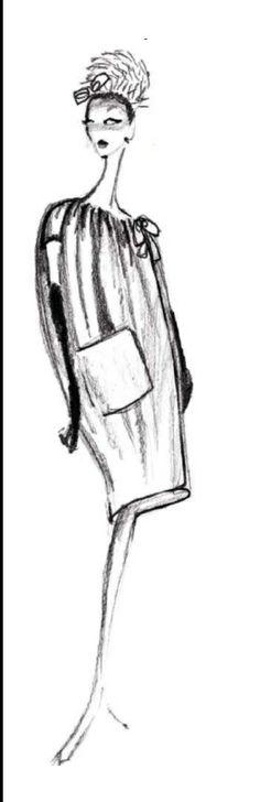 1953 - Balenciaga coat sketch