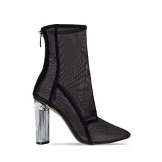 Janelle Black Mesh Ankle Boots : Simmi Shoes - Love Your Shoes! (12 AUD) ❤ liked on Polyvore featuring shoes, boots, ankle booties, short boots, ankle boots, black ankle booties, black booties and high heel booties