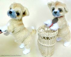 106 Crochet Pattern Shih Tzu puppy dog  PDF file Amigurumi by