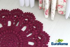 Crochet everything. Marsala, Crochet Home, Knit Crochet, Crochet Tablecloth, Magic Art, T Shirt Yarn, Home Rugs, Doilies, Crochet Projects