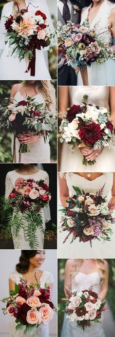 trending burgundy and blush wedding bouquet ideas #weddingcolors #weddingthemes #fallweddings #weddingideas #burgundywedding #weddinginspiration #weddingdecor #weddingcakes #weddingcenterpieces #weddingflowers