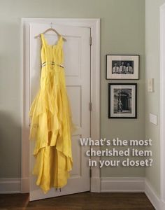 What's the most cherished item in your closet?