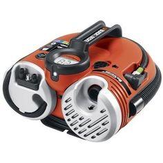 Cordless Air Inflator Portable Electric Tire Raft Mattress Digital Gauge Light #BLACKDECKER
