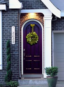 OMG. My favorite color! Can i please have a gray house with a beautiful purple front door <3