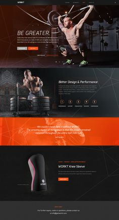 Website concept for crossfit brand WORKT