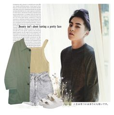 """""""Xiumin: beauty isn´t about having a pretty face"""" by yxing ❤ liked on Polyvore featuring Retrò, Burberry, INC International Concepts, Windsor Smith, kpop, EXO and xiumin"""