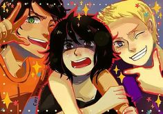 Boys of the big three (i am pinning this cuz of Nico's face. He looks adorable in this picture!)