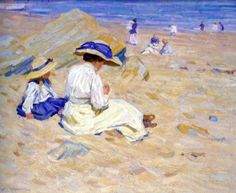 On the Beach ~ Helen Galloway McNicoll ~ (Canadian: 1879-1915)