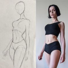 Female Pose Reference, Body Reference Drawing, Art Reference Poses, Human Anatomy Drawing, Drawing Body Poses, Art Drawings Sketches Simple, Pencil Art Drawings, Body Sketches, Body Drawing Tutorial