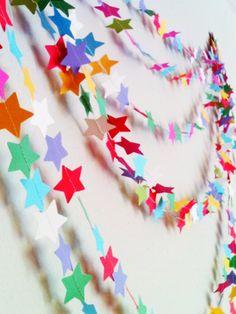 Star Garland 24 FEET  Rainbow Garland Party por bottzstudios, $26.00