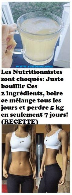 Les Nutritionnistes sont choqués: Juste bouillir Ces 2 ingrédients, boire ce mélange tous les jours et perdre 5 kg en seulement 7 jours! (RECETTE)