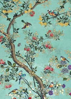 Quality greeting cards designed and published in the UK. Vintage Style Wallpaper, Antique Wallpaper, Chinoiserie Wallpaper, Bird Wallpaper, Greeting Cards Uk, Bug Art, Motif Floral, Drawings, Prints